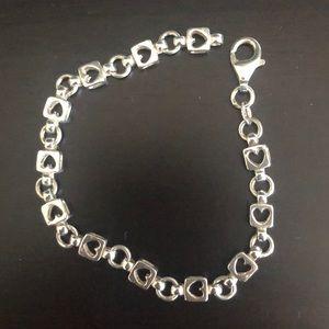 Jewelry - Silver heart chain link bracelet